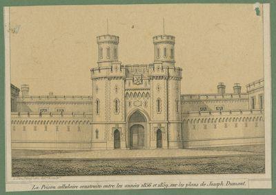 La Prison cellulaire construite entre les années 1856 et 1859, sur les plans de Joseph Dumont