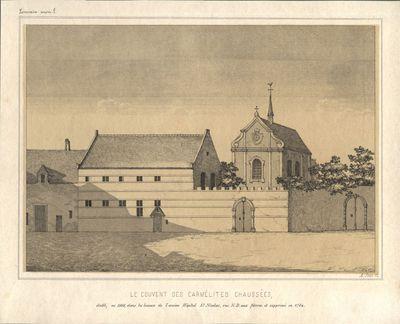 Le couvent des Carmélites Chaussées, établi, en 1666, dans les locaux de l'ancien Hôpital St. Nicolas , rue N.D. aux fièvres, et supprimé en 1784