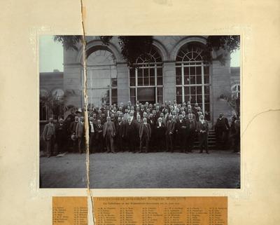 [PORTRAIT] Internationaler botanischer Kongress Wien 1905 : Die Teilnehmer an den Nomenklatur-Beratungen am 16 Juni 1905