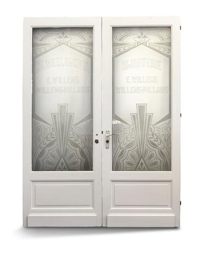 Pollaris-Willems, deur met sierglas, s.d., glas.