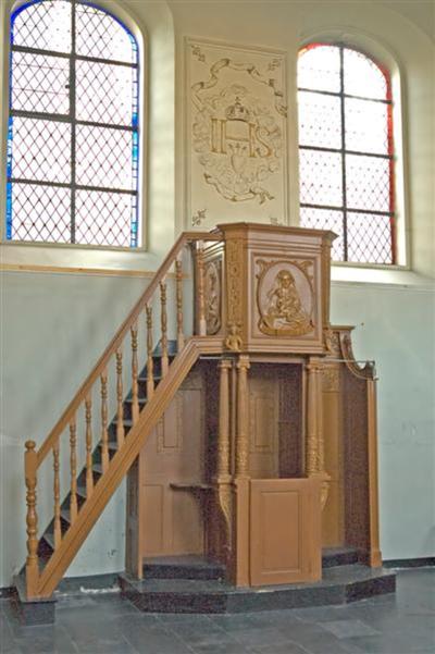 Biechtstoel-preekstoel