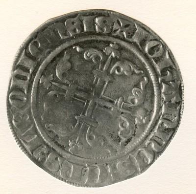 Sint-Pietersgroot, geslagen te Maastricht, 1364-1378 (prins-bisschop Jan Van Arckel), geslagen zilver.