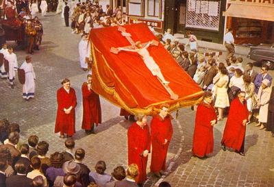Bedevaart Halle (processie) - Mariastoet op de Grote Markt