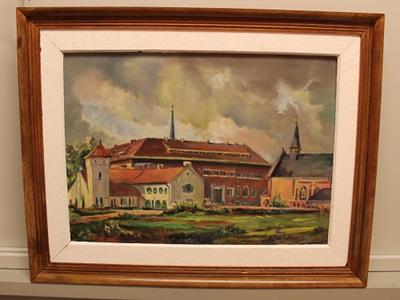 Damiaanmuseum en klooster van de paters der Heilige Harten in Tremelo voorstelt