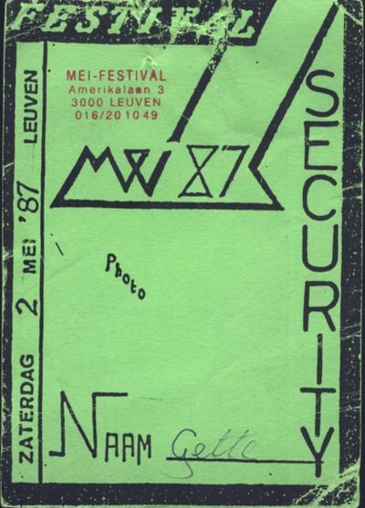Mei-festival '87