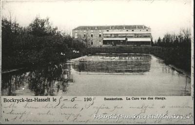 Bockrijck-lez-Hasselt - Sanatorium, la Cure vue des étangs