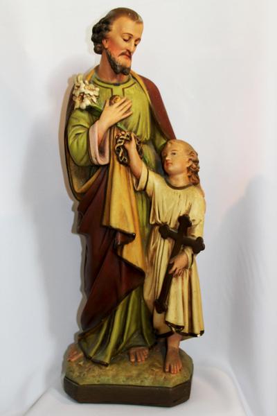Beeld van de H. Jozef en het kind Jezus