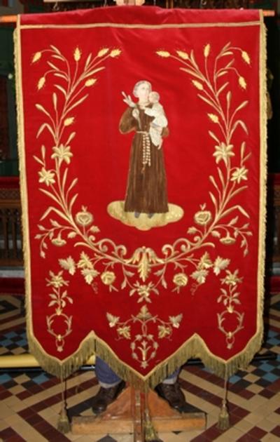 Vaandel met de Heilige Antonius van Padua