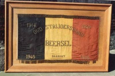 Vlag van de oudstrijdersbond van Beersel