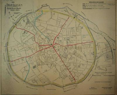 Plattegrond van de stad Leuven