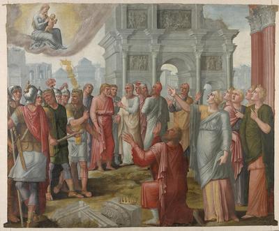 Augustus en de Tiburtijnse sibille (Jacobus de Voragine, Legenda Aurea)