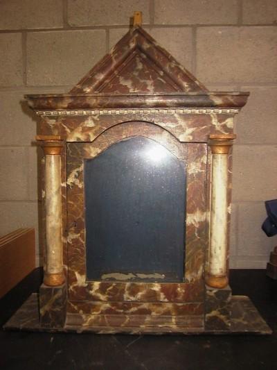 Anoniem, tabernakel, s.d., hout, glas.