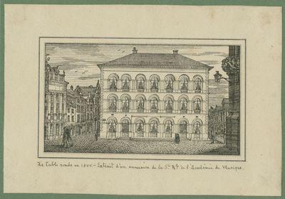 La Table ronde en 1844. - Extrait d'un annuaire de la Ste Rle de l'Académie de Musique