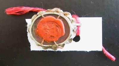 Anoniem, reliquarium met lakstempelafdruk S. Joann. Bapt. - S. Zachar. Pater, s.d., metaal, glas, zilver, zegellak.