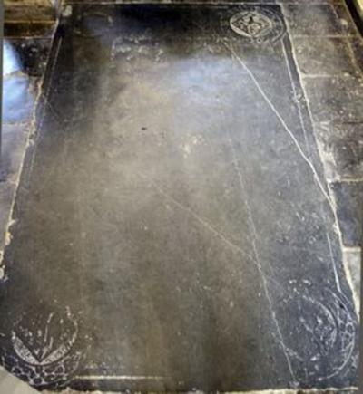 Grafsteen van een onbekende