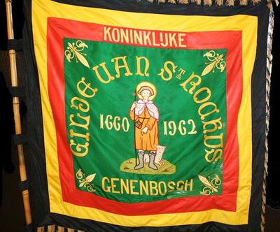 Vlag van schuttersgilde Sint-Rochus Genenbos 1962