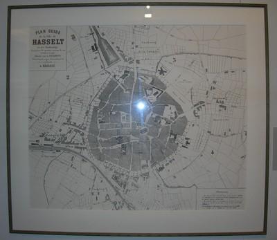 L. Ceulemans, stadsplan van Hasselt en zijn buitenwijken, ca. 1875, gedrukt op papier.