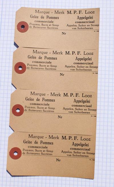Kartonnen kaartje van Meekers om aan grotere stroopverpakkingen of ladingen te hangen