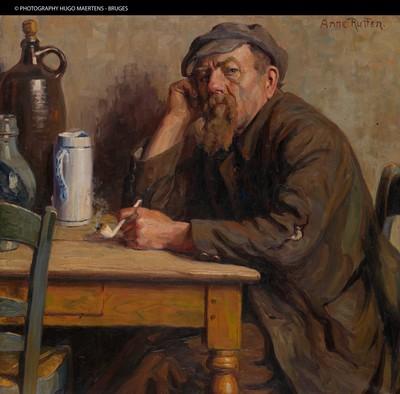 Anne Rutten (1898-1981), Jacobus Revis, alias Keub de Kasseier, s.d., olie op doek.