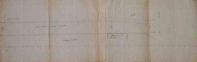 Rooilijnplan van een gedeelte van de Mechelsestraat nabij de Vaart