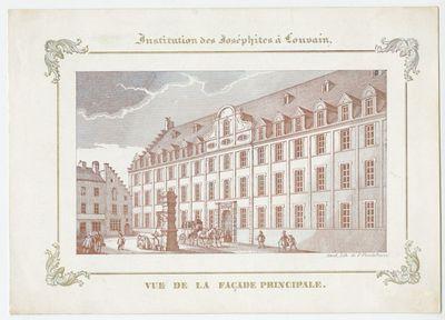 Institution des Joséphites à Louvain. Vue de la façade principale