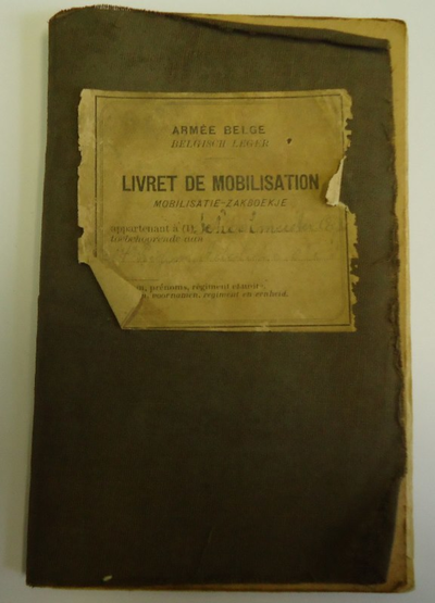 Mobilisatie zakboekje Alfred Schoolmeester