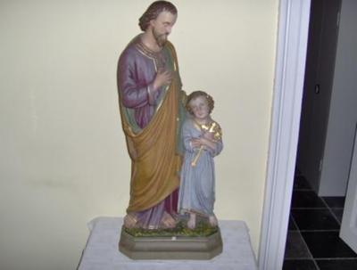 beeld Sint Jozef en Jezus (kind)