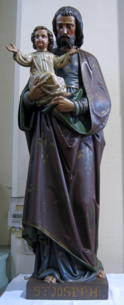 Heilige Jozef op sokkel