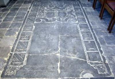 Grafsteen van Jean André de Voordt (echtgenoot van Marie Fernande Pallant)