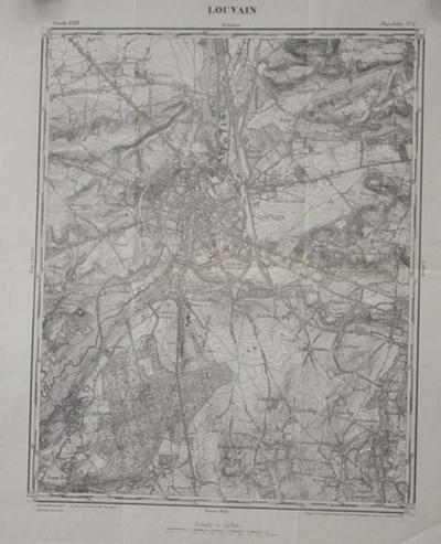Kaart van Leuven en omgeving