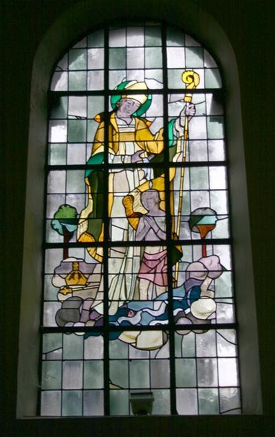 Heilige Amandus doopt Sigisbert