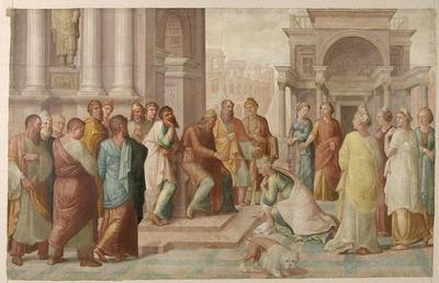 Cyclus van de Deugdzame vrouwen: Esther voor Ahasveros (Est. 5, 1-8)