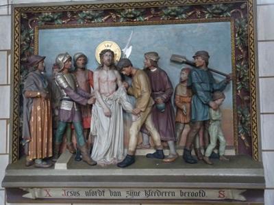 Kruiswegstatie 10