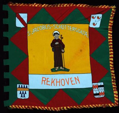 Vlag van schuttersgilde Sint-Jacobus Rekhoven 1991