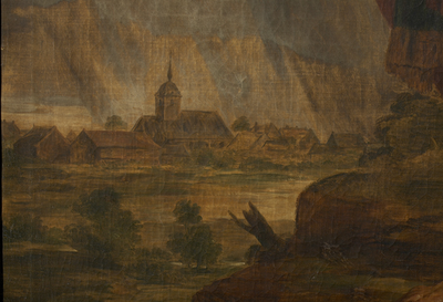Dorpsgezicht met de Sint-Amanduskerk