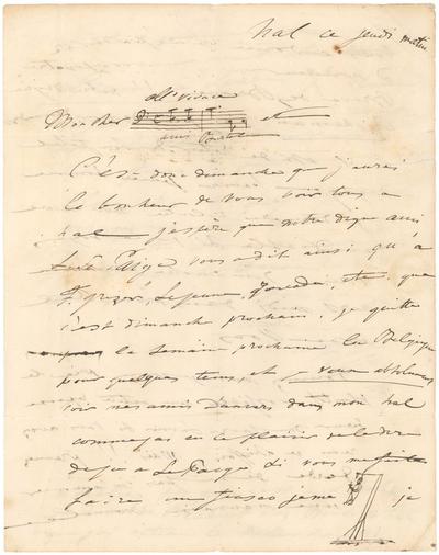 Brief François Servais aan Emile Fester, Halle, [27 april 1838]