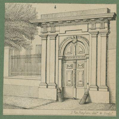 Poort van het Atrechtcollege in Leuven