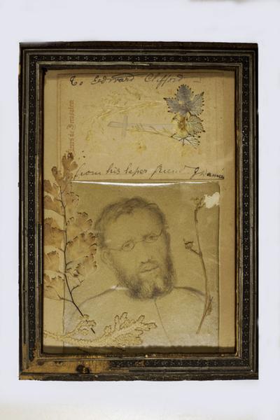 Collage van Eduard Clifford met herinneringen aan Damiaan