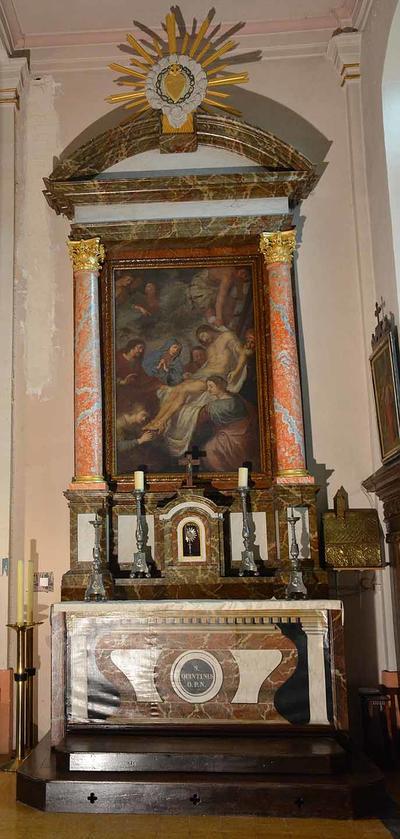 Zij-altaar gewijd aan Sint-Quintinus
