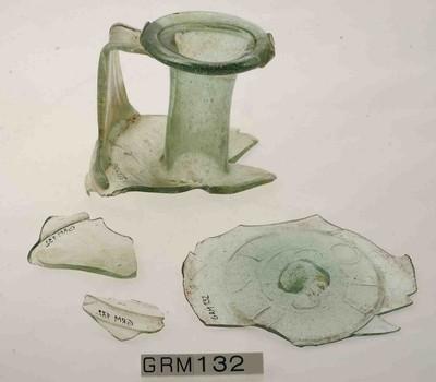 Fragmenten van een Frontinus fles