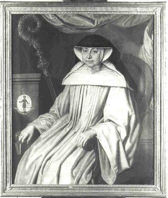 Portret van Victoire Schlüter, laatste abdis van Valduc