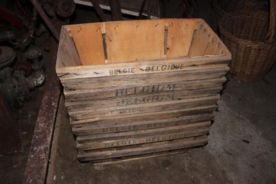 Rechthoekig kistje om pruimen, kersen of aardbeien in te verpakken