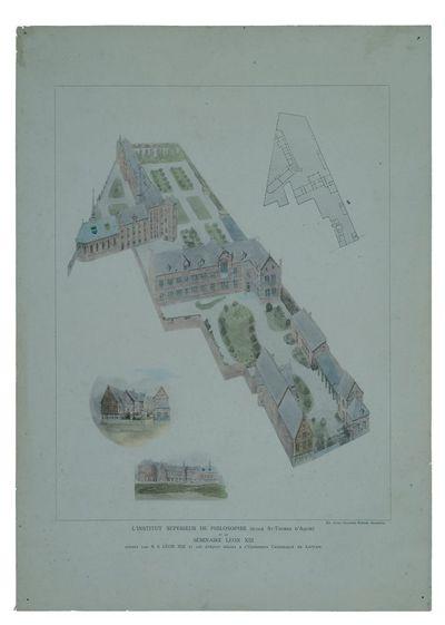 Grondplan van het Hoger Instituut voor Wijsbegeerte en het Leo XIII-seminarie in Leuven