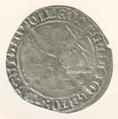 Griffoen (griffon), geslagen in Luik, 1389-1418 (prins-bisschop Jan van Beieren, geslagen zilver.