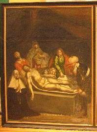 De graflegging met schenkersportret van een kloosterzuster