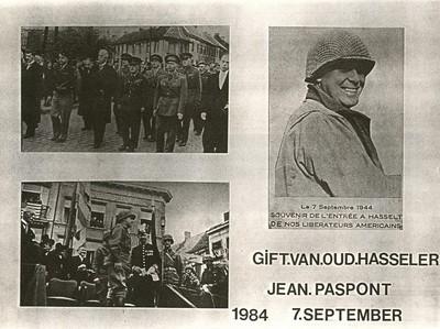 Anoniem, fotomontage van de bevrijding van Hasselt door de Amerikanen op 7 september 1944, s.d., op karton, glas.