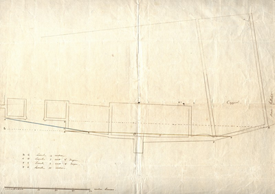 Plattegrond van een gedeelte van het Hogenheuvelcollege