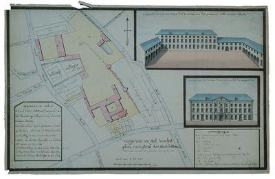 Grondplan en opstand van het Luxemburgcollege, het Villerscollege en het Wittevrouwenklooster in Leuven