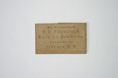 Zuster Francisca Blin de Bourdon