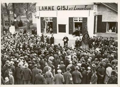 Conscience in Halle - Inhuldiging gedenkplaat Conscience bij Lamme Gisj, 1932